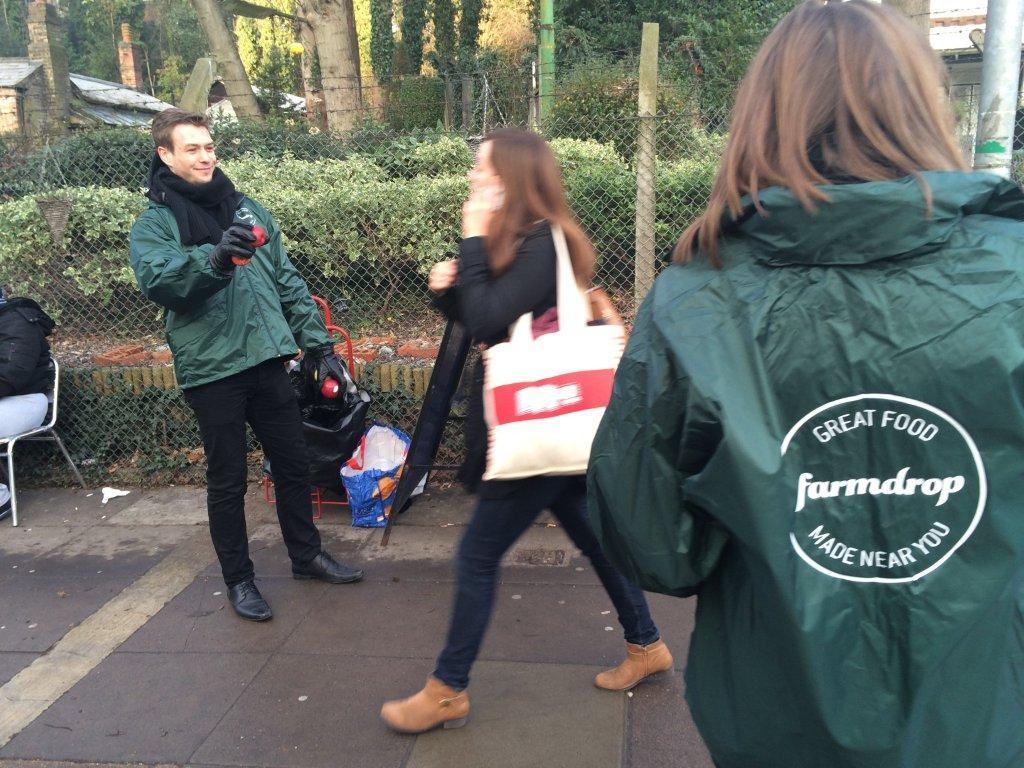 Farmdrop promotion at Highgate Station