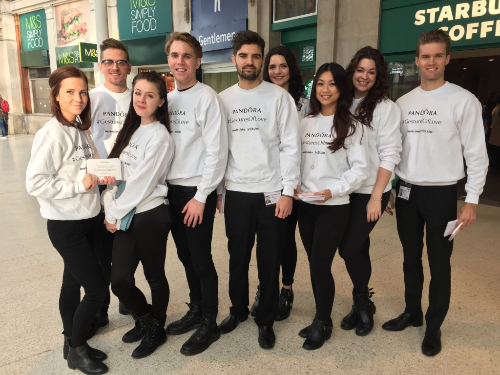 Team Pandora @ Waterloo Station