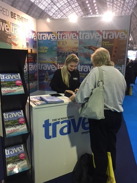 Sunday Times Travel Magazine @ Destinations Show