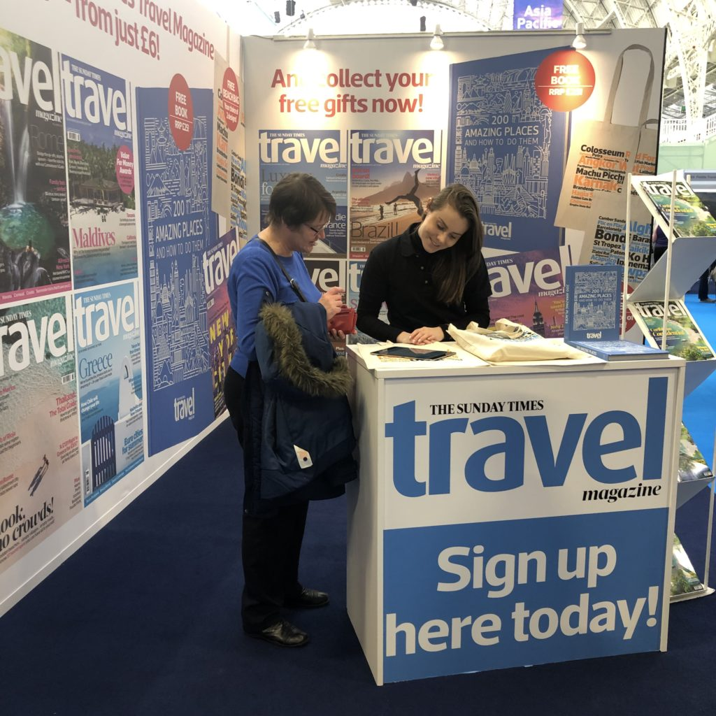 Destinations Holiday & Travel Show, Olympia, 2019
