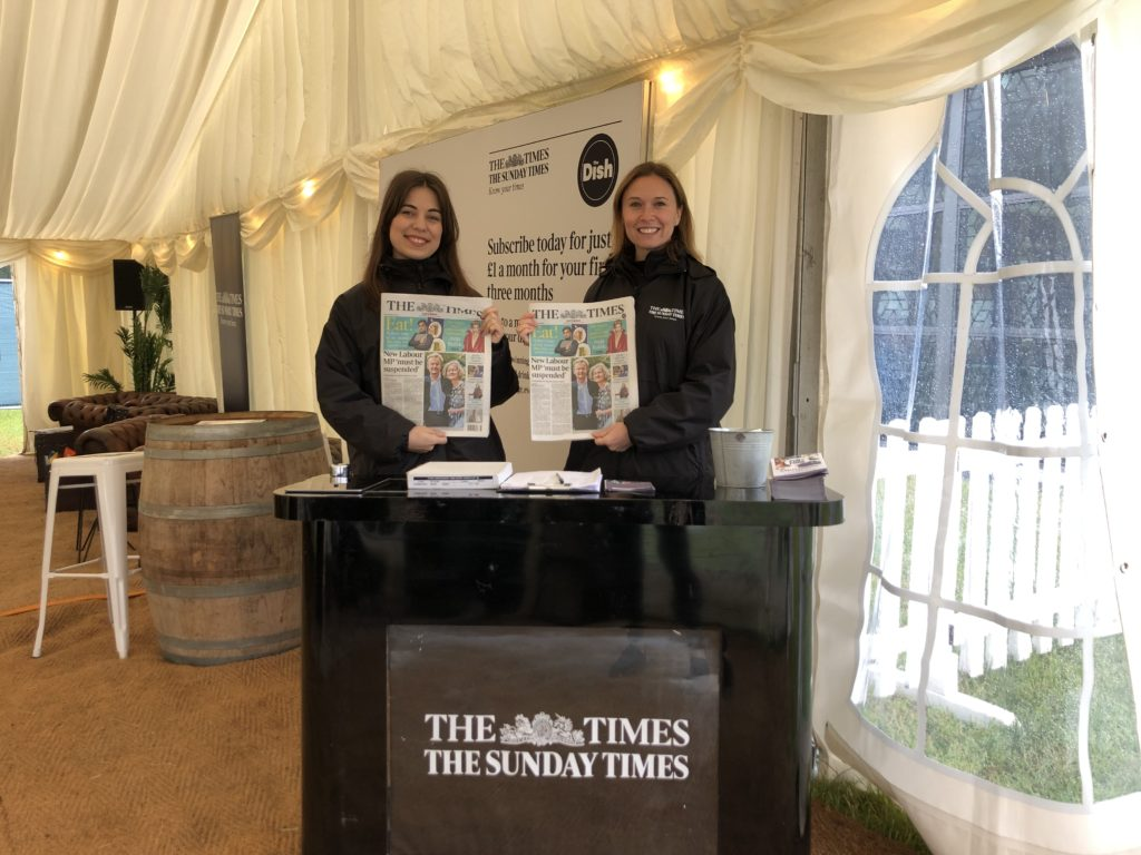 The Times, Pub in the Park Knutsford