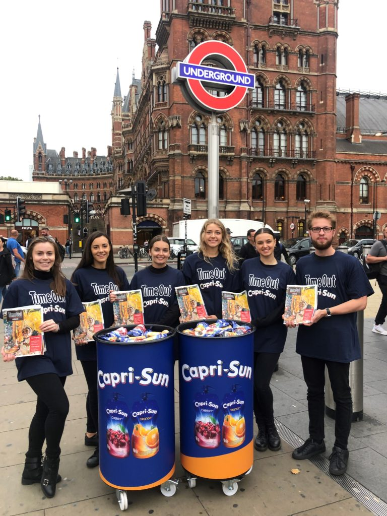 Time Out/Capri Sun promotion, Kings Cross Station