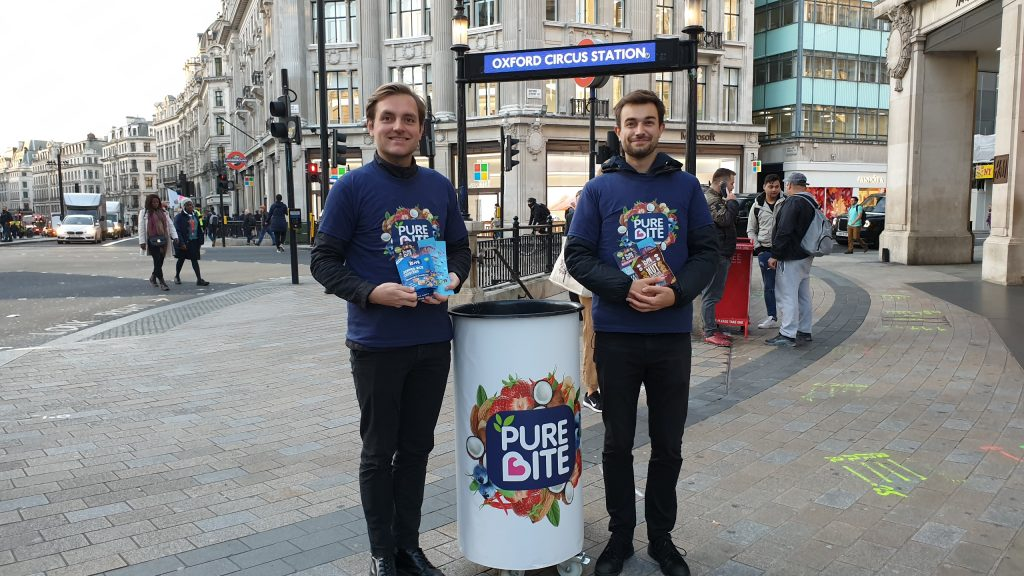Pure Bite promotion, Oxford Circus,London