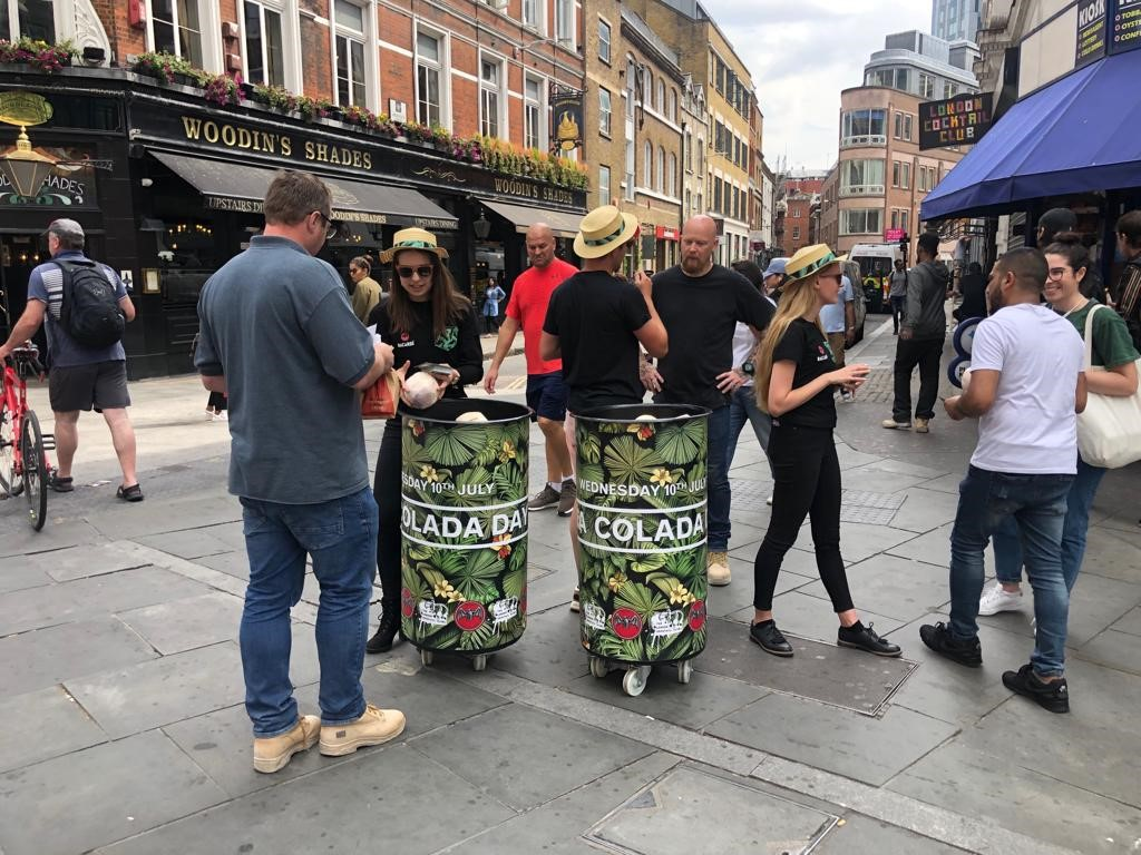 Barcadi coconut sampling London Cocktail Week - Liverpool Street