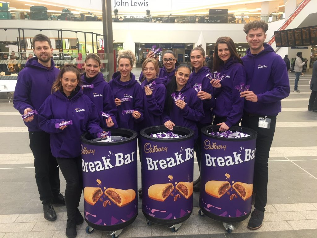 Cadbury's Break Bar Birmingham New Street