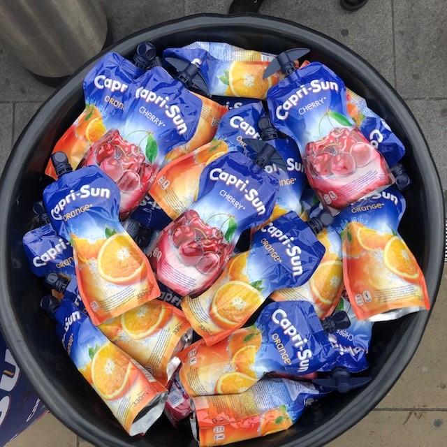 Capri Sun Drinks sampling