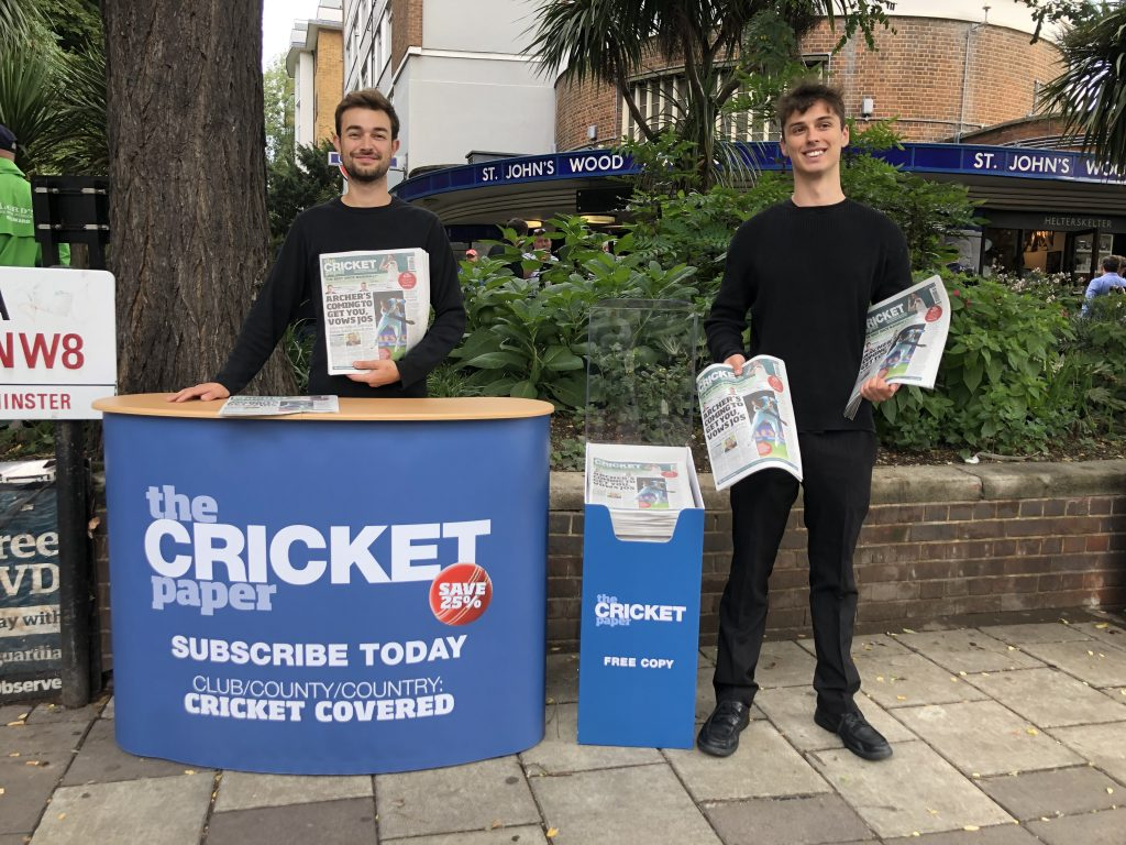 The Cricket Paper Lords Cricket Ground St Johns Wood