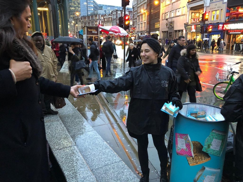 Posh Cow butter sampling Liverpool Street