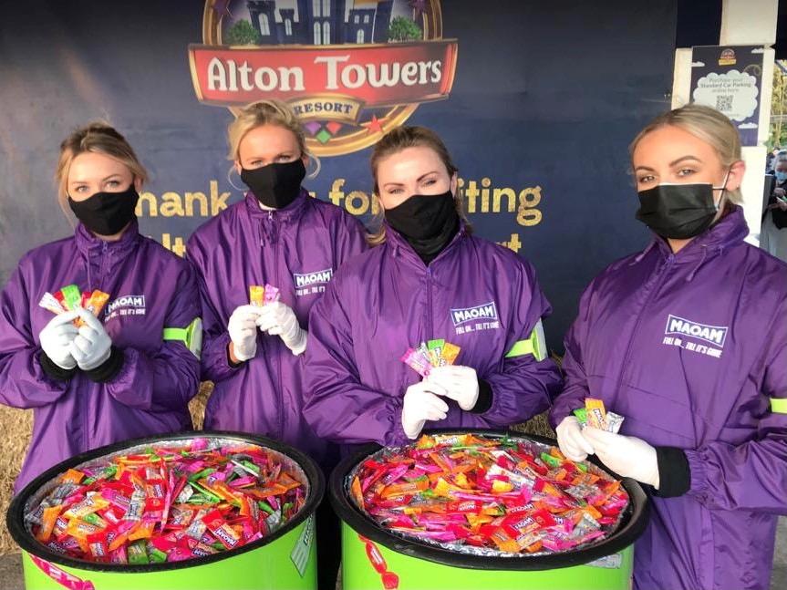 Maoam Halloween Sampling @ Alton Towers
